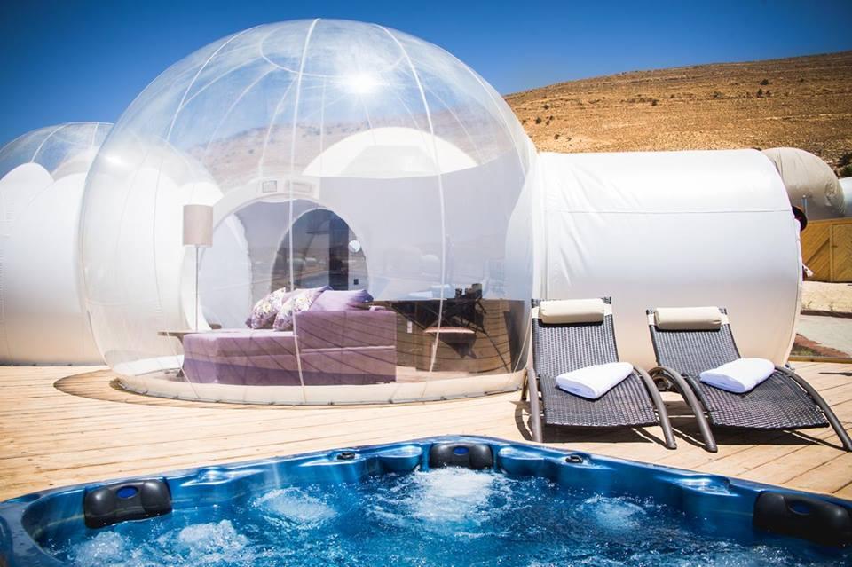 Sleep Under the Stars At This Luxury Bubble Hotel in Jordan