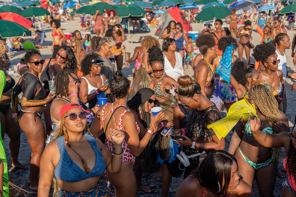 Black Girl Beach Day Is Back At Historically Black Chicken Bone Beach In New Jersey
